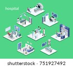isometric 3d illustration set... | Shutterstock . vector #751927492