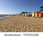 brighton beach boxes  melbourne ...   Shutterstock . vector #751931356