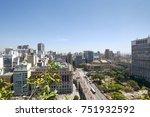 sao paulo city in brazil.... | Shutterstock . vector #751932592