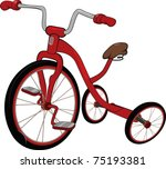 children's red tricycle   Shutterstock .eps vector #75193381