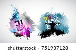 dancing people | Shutterstock .eps vector #751937128