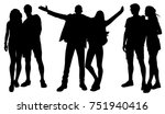 pairs silhouettes | Shutterstock .eps vector #751940416