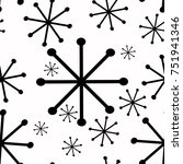 black and white snowflake ... | Shutterstock .eps vector #751941346