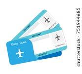 modern airline travel boarding... | Shutterstock .eps vector #751944685