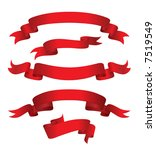 red banners  vector . in the... | Shutterstock .eps vector #7519549