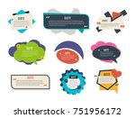 set of colorful text templates... | Shutterstock .eps vector #751956172