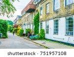 View of the Christiania neighborhood in Copenhagen, Denmark.