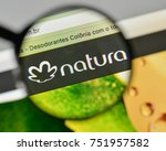 Small photo of Milan, Italy - November 1, 2017: Natura Cosmeticos SA logo on the website homepage.