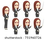 oblique angle woman suits... | Shutterstock . vector #751960726