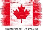 Canadian Grunge Flag. A...