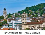 view of old zurich  switzerland | Shutterstock . vector #751968526