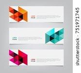 abstract banner design. modern... | Shutterstock .eps vector #751971745
