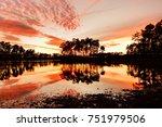 Long Pine Key Lake at Sunset, Everglades National Park, Florida, USA. Everglades National Park is a U.S. National Park in Florida that protects the southern 20 percent of the original Everglades