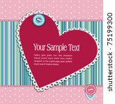 vector striped  background with ... | Shutterstock .eps vector #75199300