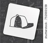 baseball cap doodle | Shutterstock .eps vector #752003158