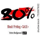 black friday banner. black... | Shutterstock .eps vector #752007832