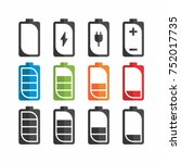 charging battery icon. | Shutterstock .eps vector #752017735
