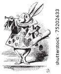 White Rabbit  Dressed As Heral...