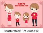 cartoon family with chinese new ...   Shutterstock .eps vector #752036542