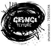 ink vector brush strokes.... | Shutterstock .eps vector #752051146