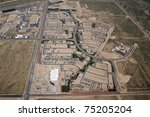 Aerial of a typical Southwest style housing development - stock photo