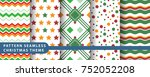 pattern seamless snowflake for... | Shutterstock .eps vector #752052208