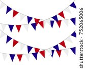 festive bunting flags. holiday... | Shutterstock .eps vector #752065006