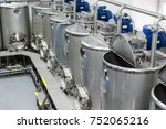 a lot of stainless steel tanks... | Shutterstock . vector #752065216