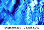Blue Abstract Geometric Fracta...