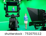 blur image of newscaster or... | Shutterstock . vector #752070112