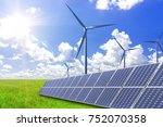 solar power and wind power to... | Shutterstock . vector #752070358