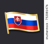 flag of slovakia in the form of ...   Shutterstock .eps vector #752081476