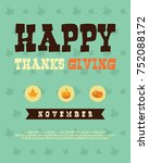 collection thanksgiving style... | Shutterstock .eps vector #752088172