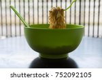 Instant Noodle In A Bowl Of...