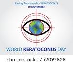world keratoconus day background | Shutterstock .eps vector #752092828