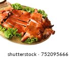 barbecued suckling pig.chinese... | Shutterstock . vector #752095666