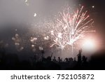 people celebrating new year's... | Shutterstock . vector #752105872