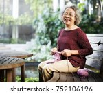 life style of a senior asian... | Shutterstock . vector #752106196