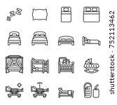 bed icons set. bedroom... | Shutterstock .eps vector #752113462