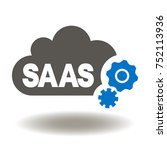 saas cloud computing gears icon ... | Shutterstock .eps vector #752113936