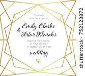 wedding invitation  invite card ... | Shutterstock .eps vector #752123872