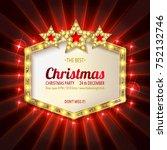 invitation merry christmas...   Shutterstock .eps vector #752132746