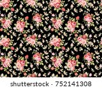 bouquet shade rose flower... | Shutterstock . vector #752141308