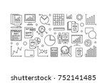 financial audit vector minimal...   Shutterstock .eps vector #752141485