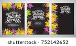 a set of three typographic... | Shutterstock .eps vector #752142652