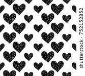 monochrome romantic seamless... | Shutterstock .eps vector #752152852