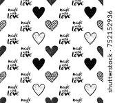 monochrome romantic seamless... | Shutterstock .eps vector #752152936