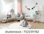 children room interior...   Shutterstock . vector #752159782