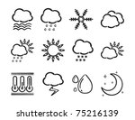 weather icons | Shutterstock .eps vector #75216139