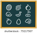 fruit icons | Shutterstock .eps vector #75217507